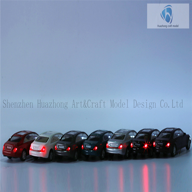 1: 50 Scaled Plastic Model light Car, Wholesale Diecast Car for train layout