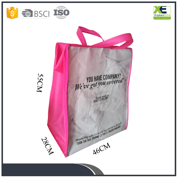 Hot Sale Glossy Laminated Eco Friendly Quilt Storage Packing Non Woven Quilt Bag