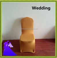 2015 HOT SALE !!! Gold spandex chair cover for wedding,banquet,party,meeting