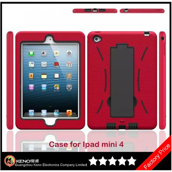 Keno Heavy Duty Hybrid Protective Kickstand Case for iPad Mini4 Tablet