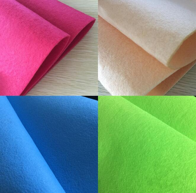 Polyester Nonwoven Needle Punched Coloured 1mm Soft Felt