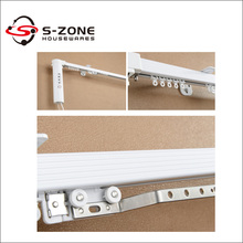 motorised window covering curtain track for hotel building project
