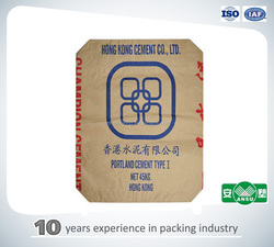 china factory color printing 50kgs kraft paper cement bag