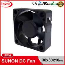 SUNON PWM 3010 30x10 30mm 30x30 30x30x10 mm 12V DC Small Axial Flow Brushless Mini Cooling Fan 30x30x10mm (MC30101V1-Q020-S99)