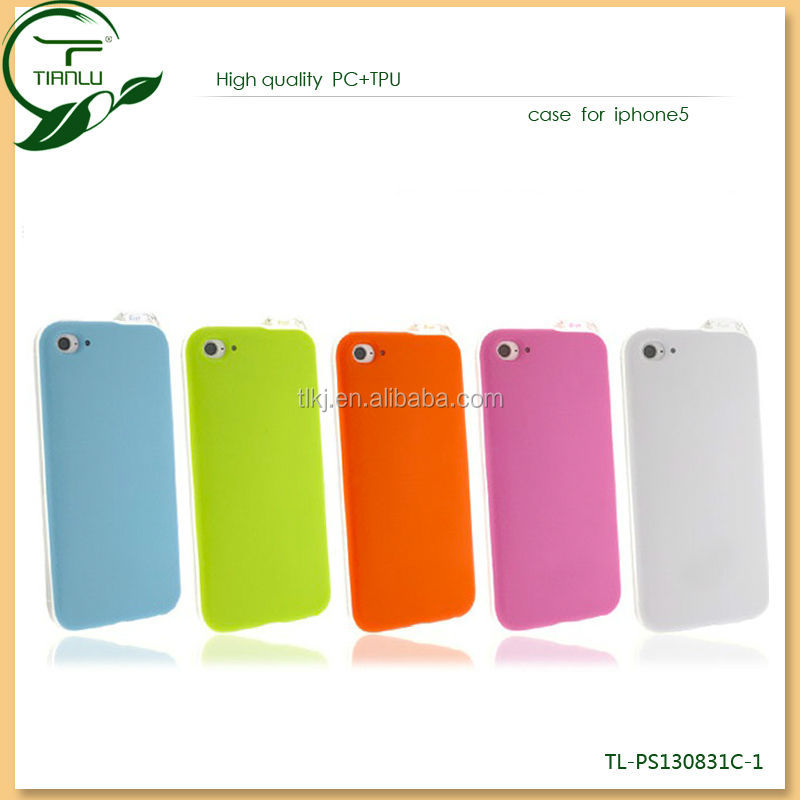 LED TPU mobile phone shell for iphone 5/5s candy color bling case notification feature