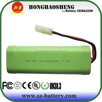 hot sale best price rechargeable 7.2v 3200mah battery for 727 high-speed car battery, 7 series remote control boat