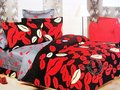 red lip design queen bed quilt comforter duvet cover sets 4pc