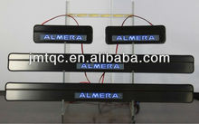 High quality!!! door sill plate with led for nissan almera
