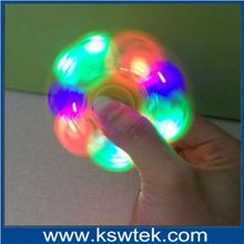 Coloful Hand Spinner / Fidget Spinner / Hand Fidget Spin Toy 75x75x7mm LED light Toy Relieves Stress