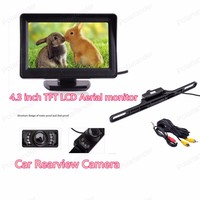 Wholesale Car Aerial Monitor 4.3 inch with Car Rearview Reversing Camera Parking Monitor System
