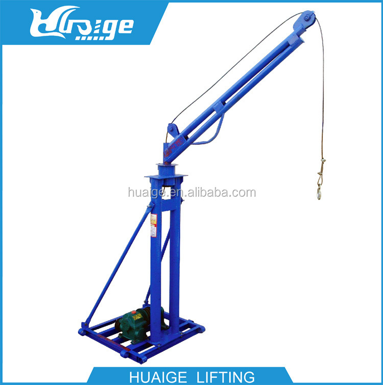 portable small lift construction floor crane