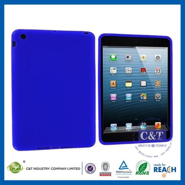 C&T Newest Elegant Plain Grain silicone case for ipad air