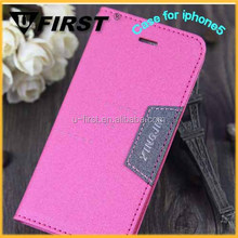 Colorful PU/leather case for apple iphone 5g,mobile leather case