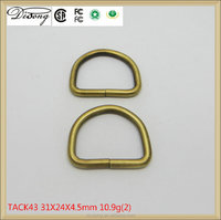 Various type iron decorative metal ring,bulk copper metal d ring for handbag in stock