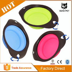 High Quality Folding Dog Bowl Collapsible Pet Travel Bowl Pet Silicone Bowl Supplier
