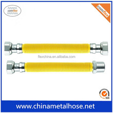 Good quality 304 Stainless steel flexible corrugated yellow natural gas hose