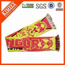 China custom soccer promotional items woven scarf