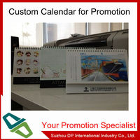 2014 cheap desk calendar, custom made desk calendar