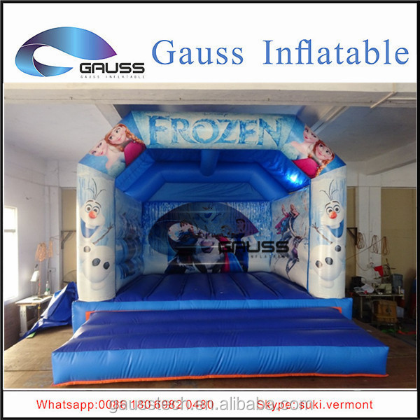 Inflatable frozen bouncy castle for fun/inflatable castle with carton theme for children