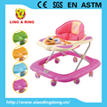 2018 new baby walker with cartoon music board Hot sale baby walker with light Baby walker with 8 wheels