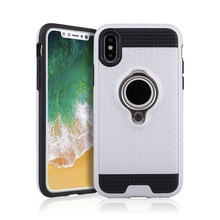 For Iphone X Phone Case,2 in 1 Case TPU PC Combo Hybrid Case Back Cover With Ring Holder For Iphone X
