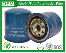High Efficiency Auto Racing Oil Filter for Isuzu 8-94414796-3