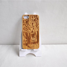 Popular engraving pattern bamboo wood phone case for iphone,mobile phone accessories