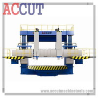 Manual VTL Turning Lathe Machine for sale with double column / DRO ACCUT VTL-35