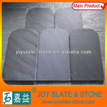 Chinese Natural Round Head Black Slate Roofing