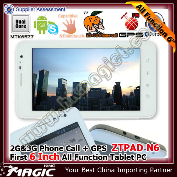 6 inch android tablet pc gps - ZTPAD N6