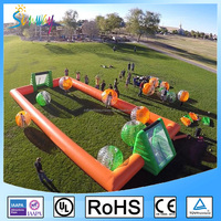 2016 One set 1.5/1.8m diameter body zorb ball inflatable soccer bubble for adults