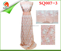 SQ007-3 100% Cotton Swiss Voile Lace / peach Swiss Voile Lace / African Swiss Voile Lace