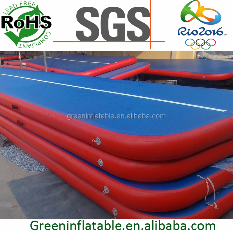 Inflatable gymnastics spring floor