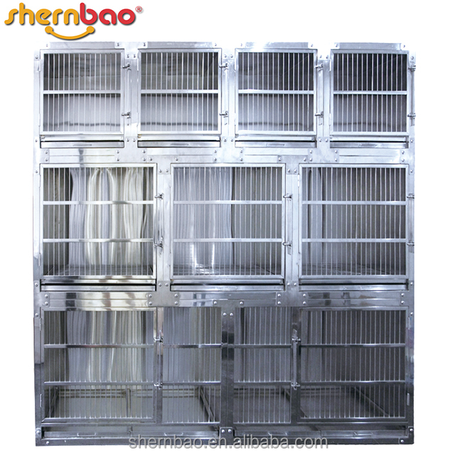Shernbao KA-508 Flat Packing Professional Modular Dog Cages with Solid Walls/Dog Kennel /Dog Crate