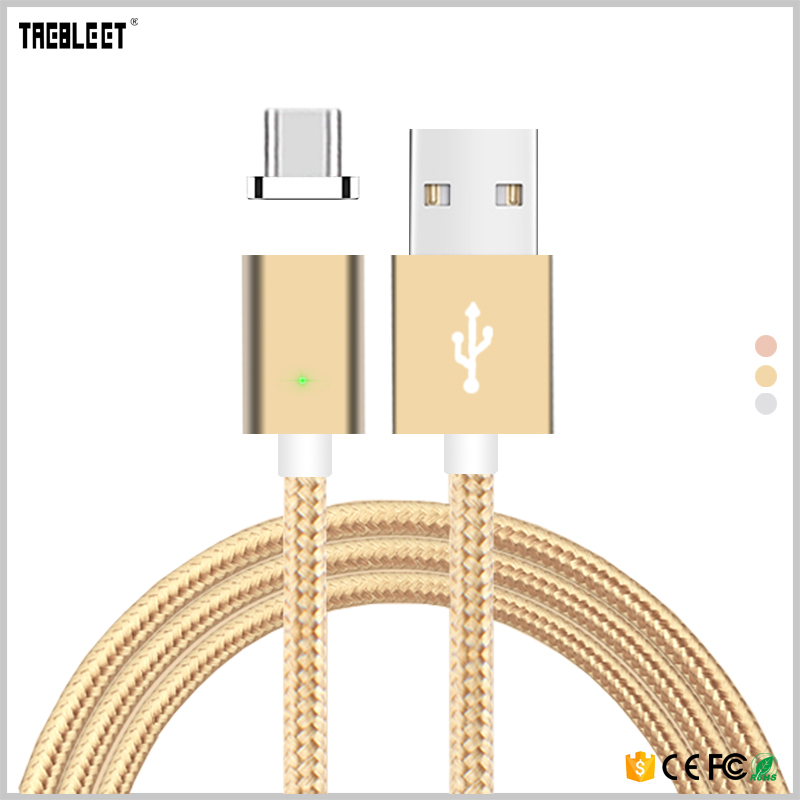 Wholesale Type <strong>C</strong> Magnetic Charging Cable Nylon Braided USB Cable for smart phone