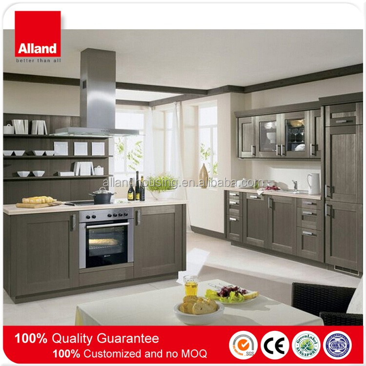 china factory America standard light grey solid wood kitchen cabinet