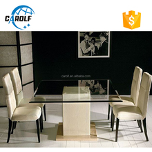 The Best China marble glass dining room table for 4 people