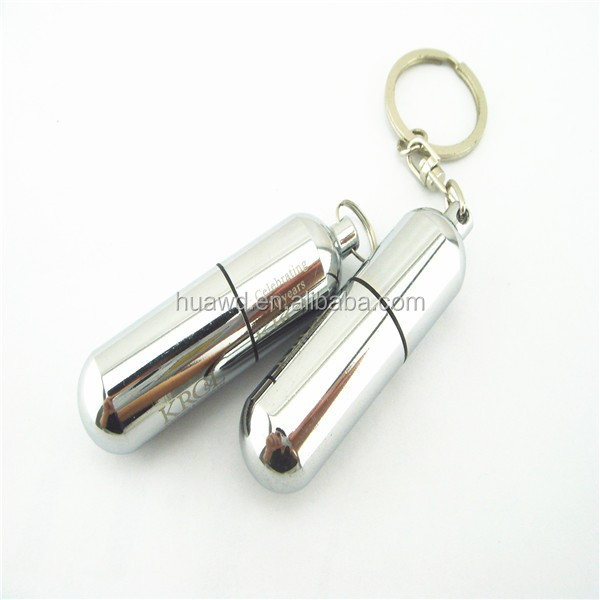 Metal Pill Usb 2.0 flash memory pen drive, Promotional Pill-shaped Usb Flash Drive