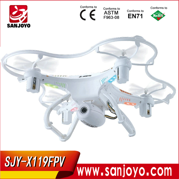 3D flips with 2MP HD camera FPV 2.4GHz Radio control flying quadcopter SJY-X119 FPV vs CX-20