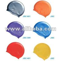 Silicone Plain Flat Junior Swim Cap
