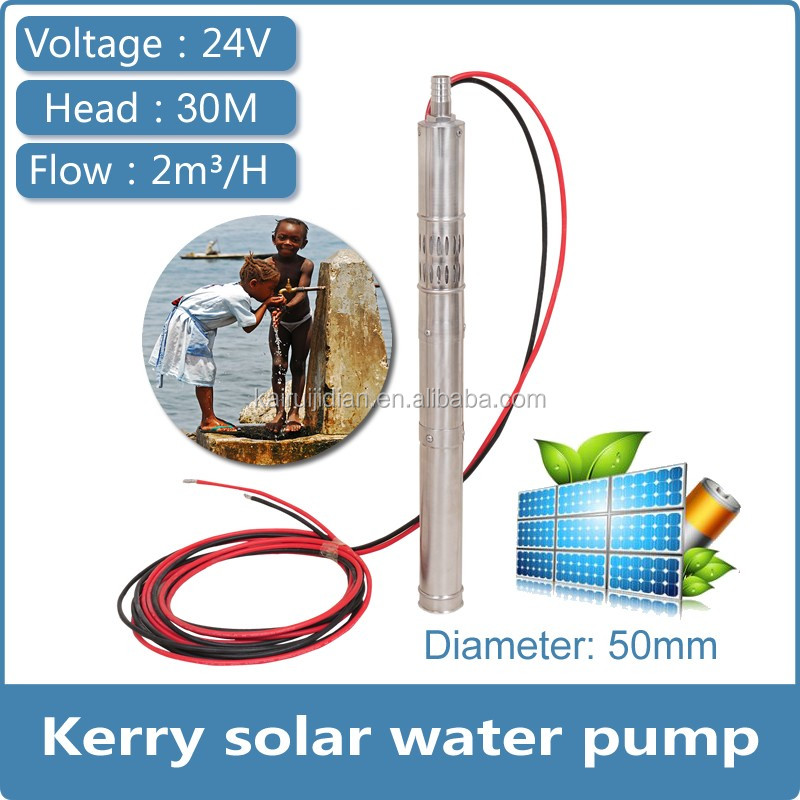 solar powered water pumps small diameter 50mm 2 inches