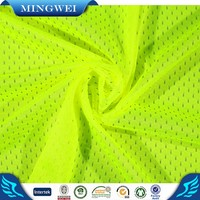 durable material 75D 100% Polyester Bird Eye Mesh Fabric Dri Fit Fabric for safe vest