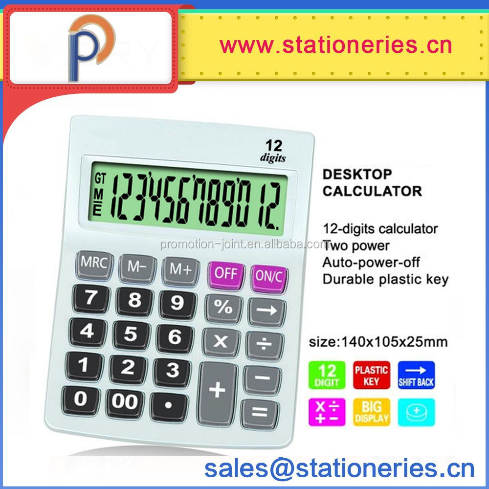 Scientific electroinc solar Double power desktop calculator