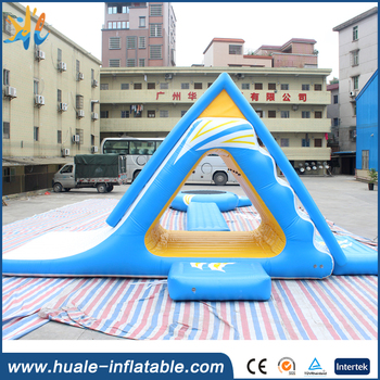 PVC Airtight Floating Water Slide / Inflatable Aqua Fun Games for sale