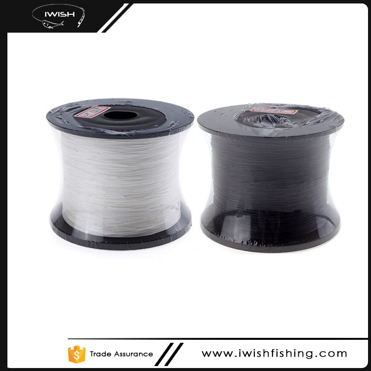 4 Strands 1000M White Black Power Braided Fishing Line For Wholesale