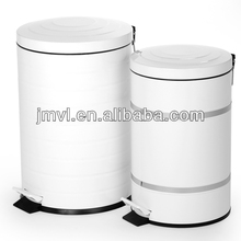 2015 metal pure whtie twin dustbin