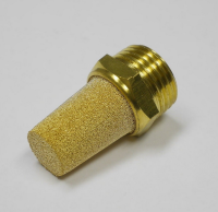 "Brass Pneumatic Muffler Filter 1/4"" Male NPT Noise Reducer Air Solenoid Valve Silencer Connector"