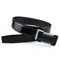 Fashion cheap western style leather casual belts for men , black leather belt