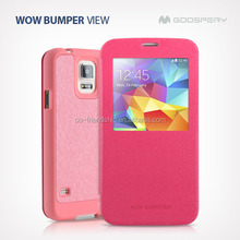 mercury goospery WOW Bumper View pu leather case for LG G2 F320