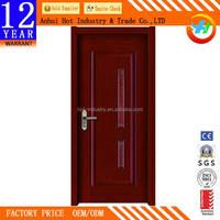 High Quality Interior Curved Wooden Door Bedroom Soundproof PVC Wooden Door Wholesale Cheap Price Bedroom Door